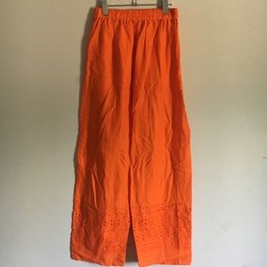 ❤️Orange cotton palazzo size small/Med